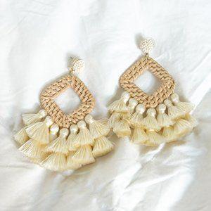 BaubleBar Raffia Earrings